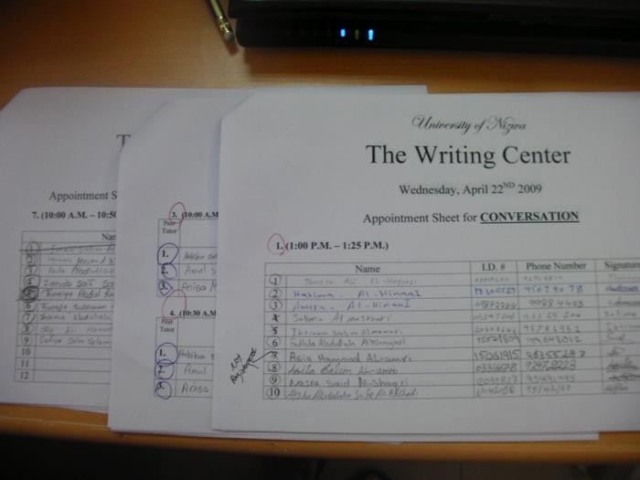twc appointment sheets university of nizwa